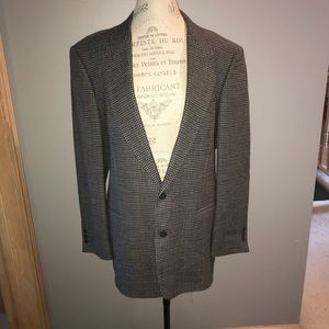 Gray and Black Plaid Pierre Cardin Suit Jacket
